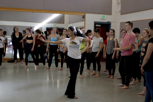 Ananya Chatterjea visits the School of Dance